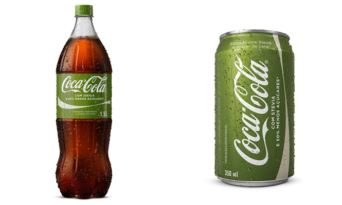 """Coca-Cola """"verde"""", com 50% menos açúcar, chega ao Brasil em junho"""