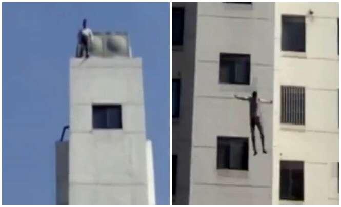 Suicida salta do 11º andar de prédio na China