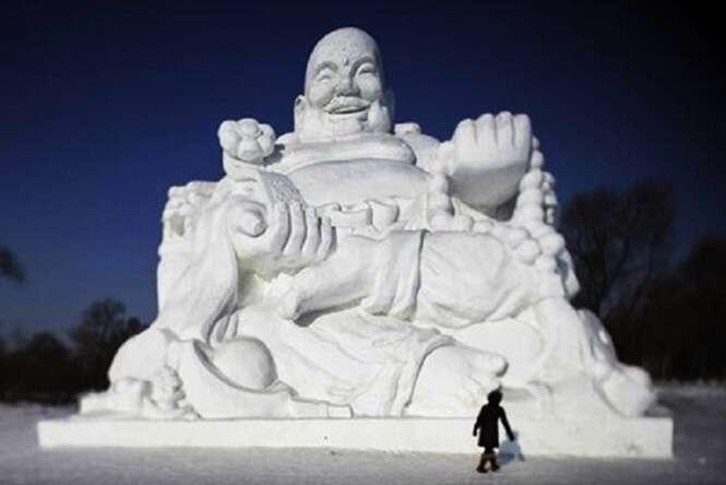 As mais incríveis obras de arte feitas de neve