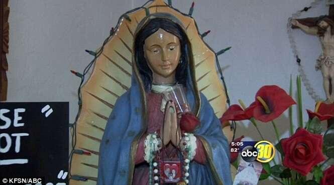 Imagem da Virgem Maria chora há mais de 1 ano