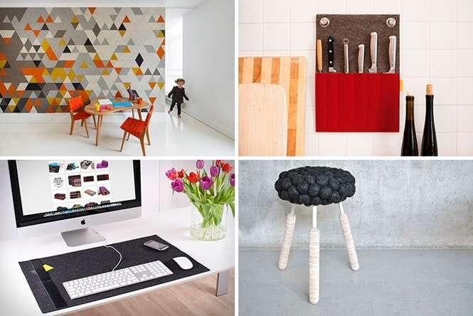 Coisas feitas com feltro capazes de deixar sua casa muito mais charmosa