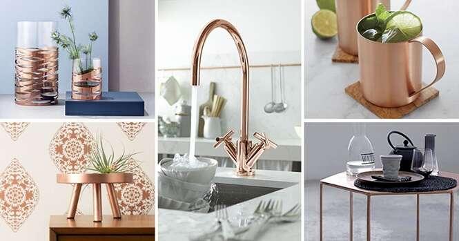 Ideias elegantes para adicionar o cobre à sua casa