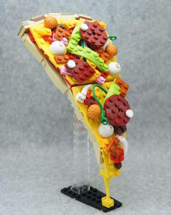 "Japonês cria arte ""deliciosa"" feita de Lego"