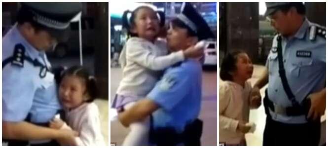 Filha que passa pouco tempo com pai policial chora ao encontra-lo de plantão nas ruas