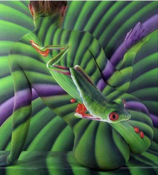 Surpreendentes obras de arte feitas no corpo e inspiradas na natureza