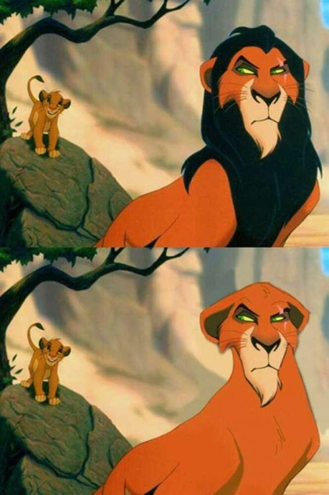 Personagens da Disney com e sem barba