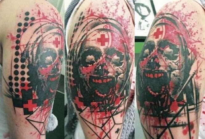 As mais loucas tatuagens de zumbis