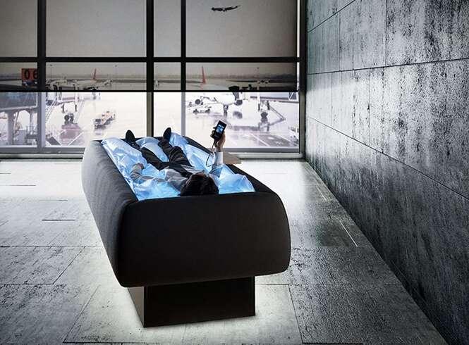 Relaxe nesta cama que fará você sentir que está flutuando
