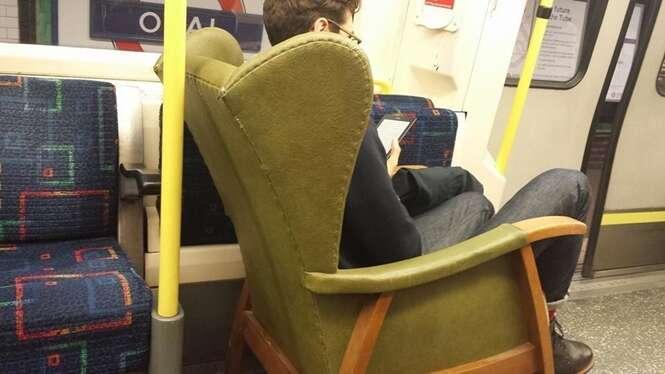 Fotos estranhas vistas no transporte público