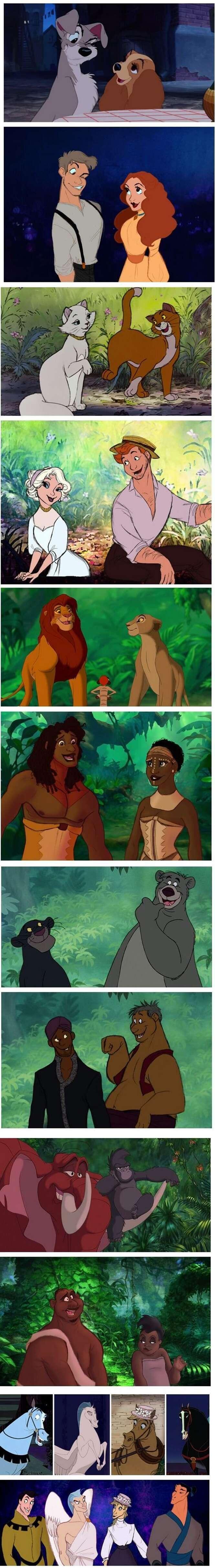 Como seriam os animais da Disney se fossem humanos?