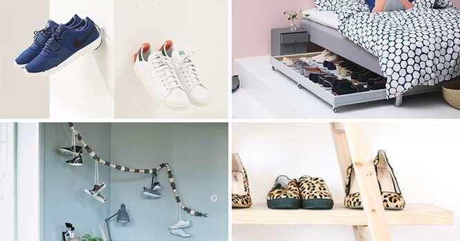 Ideias criativas de locais para armazenar seus calçados