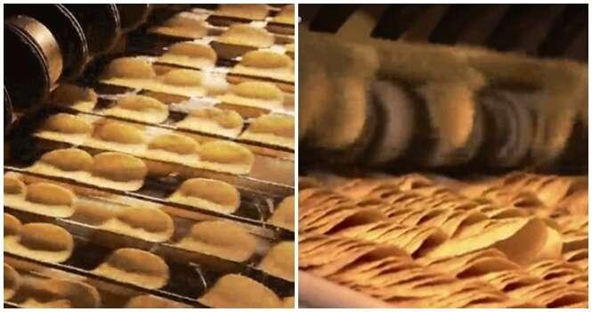 Vídeo mostrando processo de fabricação de batatas Pringles vai te hipnotizar
