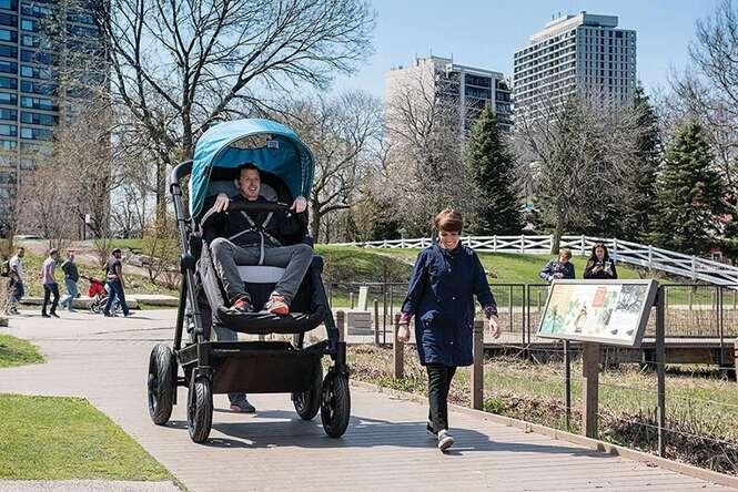 Empresa cria carrinho de bebê para adultos Foto: Bored Panda