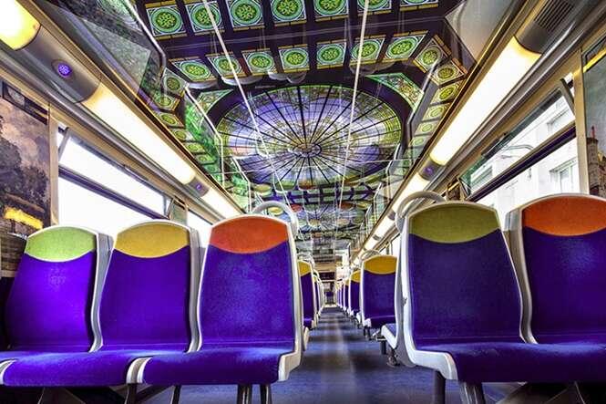 Trens franceses estão se transformando em museus de arte em movimento