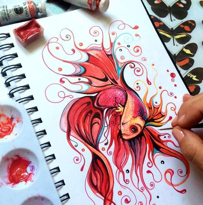 Artista impressiona com desenhos incríveis em seu bloco de papel