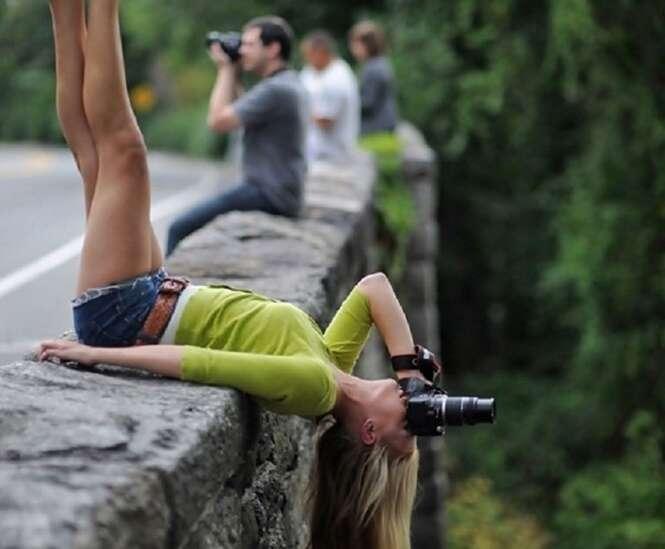 Fotos de pessoas arriscando suas vidas em nome do prazer