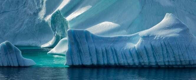Belas imagens de icebergs e geleiras