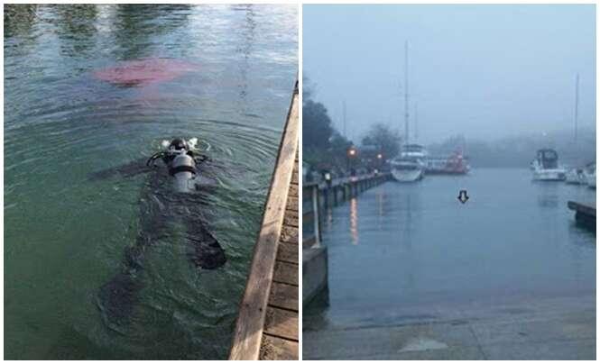 Mulher segue instruções de GPS e acaba afundando carro em baía