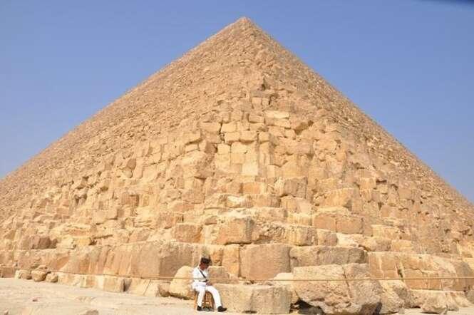 Grande Pirâmide de Gizé. Foto: megacurioso