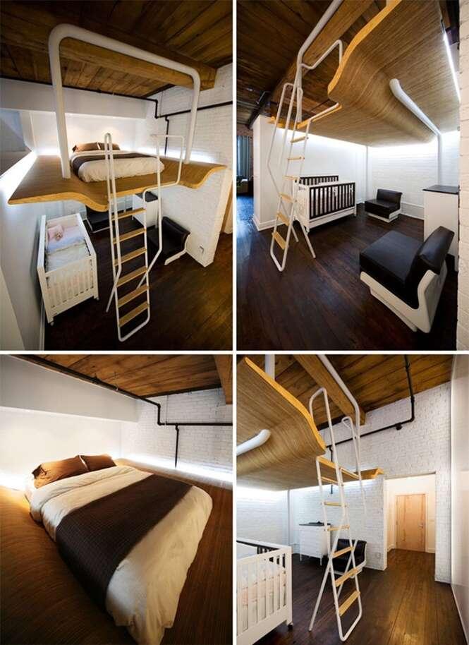 Modelos de camas projetadas para quartos pequenos