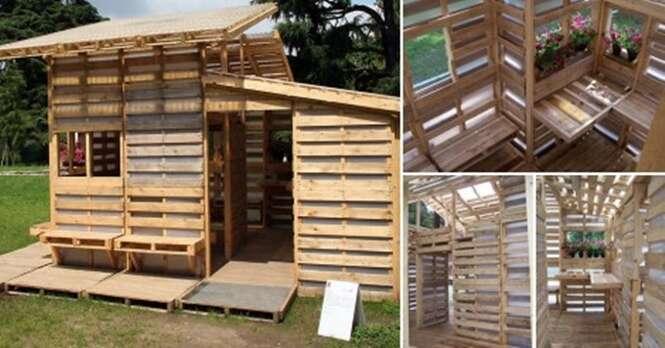 Casa ecológica feita de paletes vai te impressionar