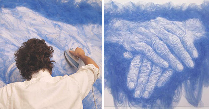 Artista usa ferro de passar roupas para criar pinturas incríveis