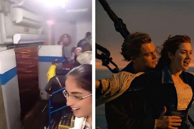 Embarcação apresenta falha e música do Titanic é tocada durante desespero dos passageiros