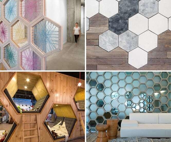 Ideias para usar hexágonos em design de interiores