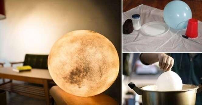 Como fazer uma incrível lâmpada lua