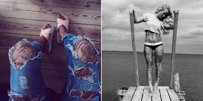Exemplos de tatoos em pernas que vão te fazer esquecer os braços tatuados