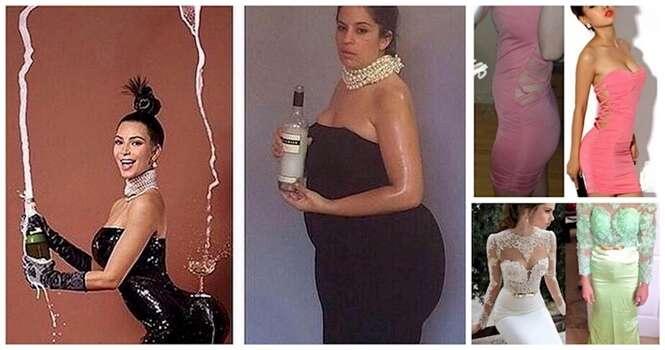 Mulheres que deveriam ter experimentado os vestidos antes de comprá-los