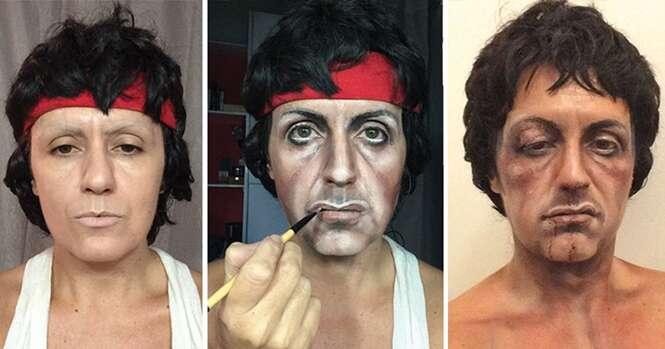 Maquiadora com talento impressionante se transforma em qualquer celebridade que deseja