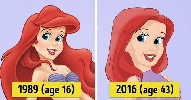 Como as princesas da Disney seriam nos dias de hoje
