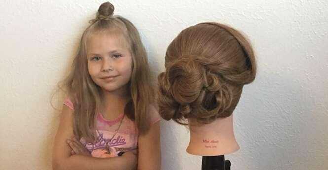 Conheça a garotinha de 5 anos que tem habilidades que você jamais terá para fazer penteados