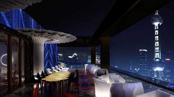 Bilionário gasta mais de 1,8 bilhões de reais para construir primeiro hotel 7 estrelas de Xangai