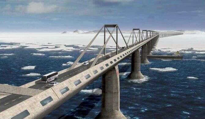 Empresa se prepara para construir ponte ligando Nova York a Londres