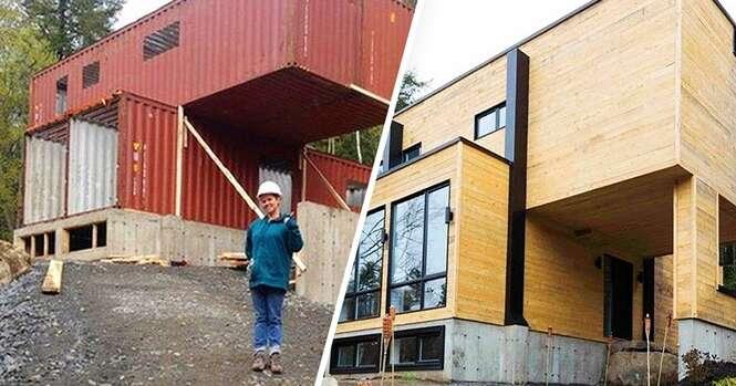 Mulher constrói casa magnífica usando contêineres