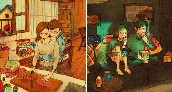 Ilustrações tocantes mostram como o amor realmente está nas pequenas coisas
