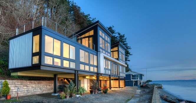 Incrível casa costeira é preparada para encarar subida das marés