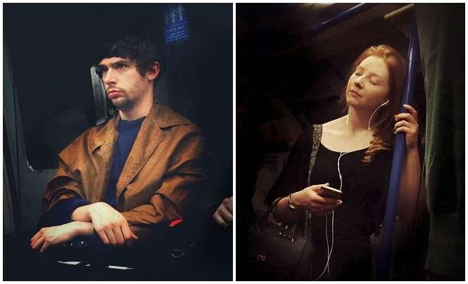 Homem fotografa secretamente passageiros de metrô e os exibe como pinturas clássicas