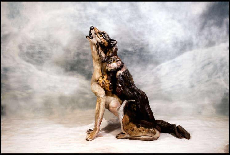 Você consegue identificar as três mulheres nuas que se escondem nesta imagem de um lobo?