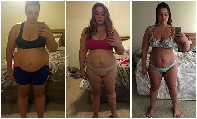 Obesa documenta em selfies perda de 57 quilos em um ano
