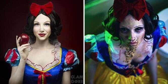 Mulher cria maquiagens de princesas da Disney