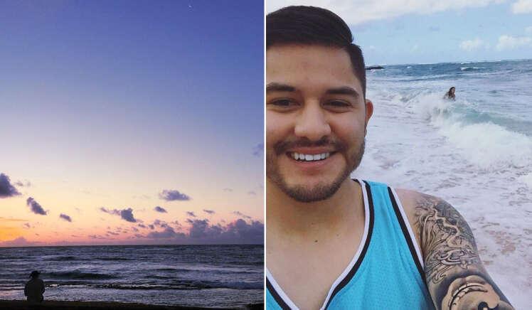 Casal posta fotos de viagem de férias e momento viraliza ao mostrar como os homens não sabem ser românticos