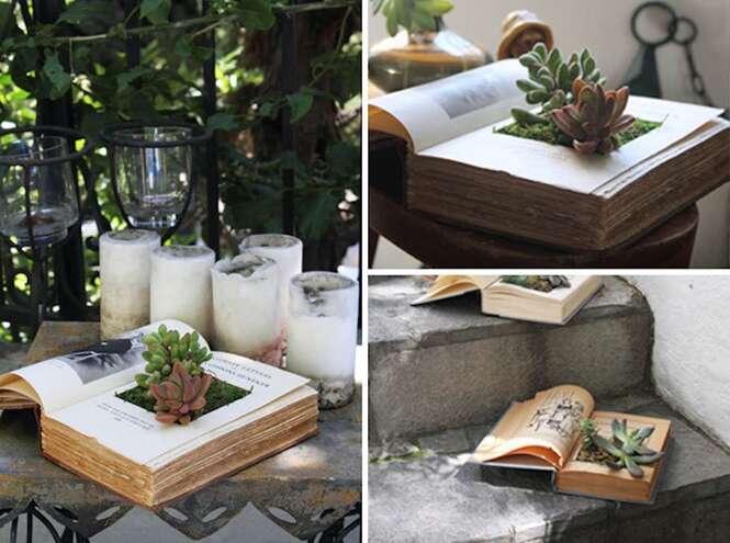Coisas curiosas usadas como vasos de plantas