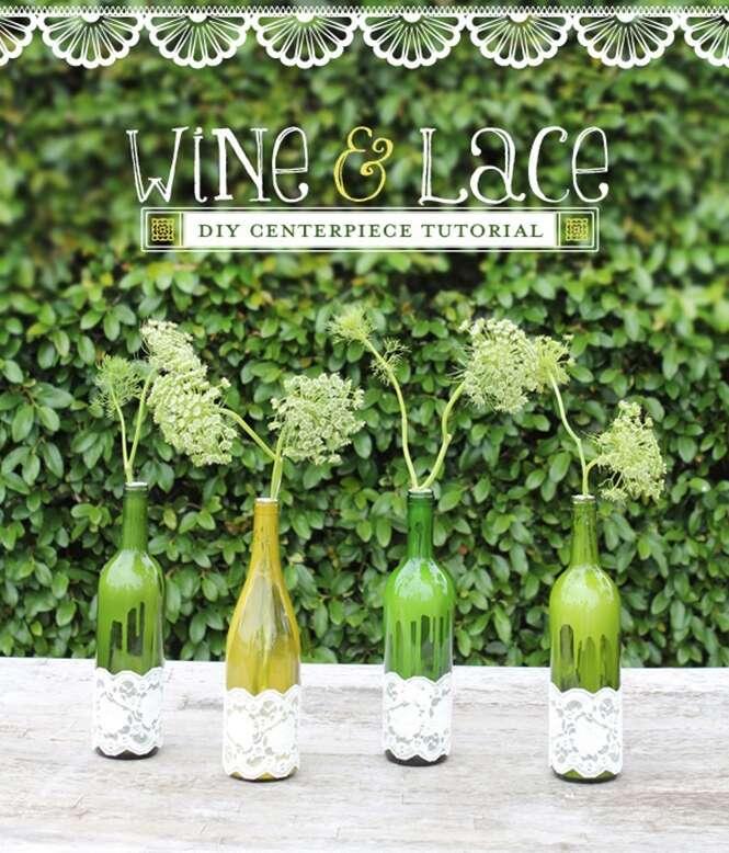 Ideias para reaproveitar garrafas de vinho