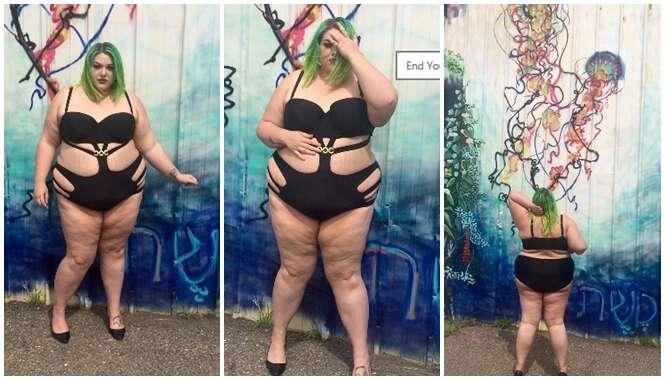 Blogueira obesa é vítima de comentários ofensivos após postar fotos de maiô
