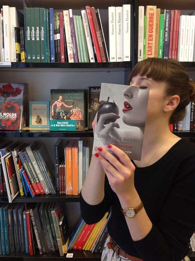 Capas de livros com uma perfeita ilusão de ótica