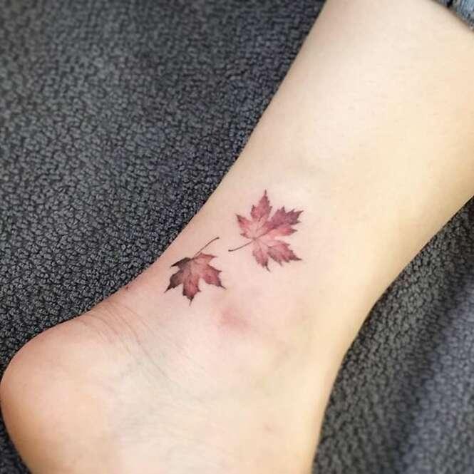 Tatuagens mostrando que o pequeno pode ser grandioso