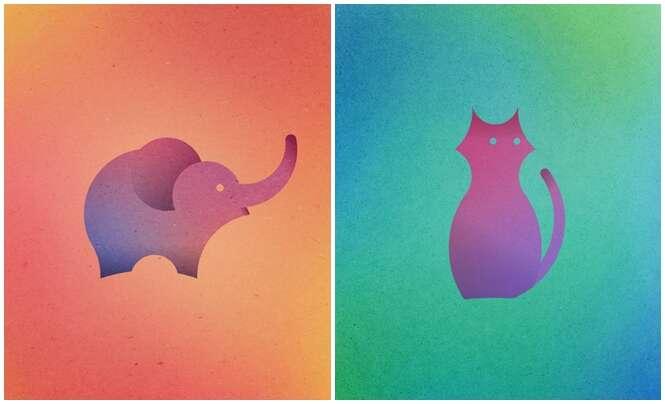 Artista cria animais com círculos perfeitos
